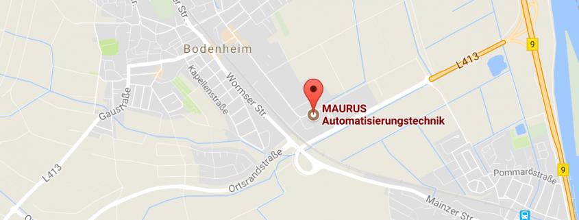 Anfahrt Karte - Maurus Automatisierungstechnik in Bodenheim