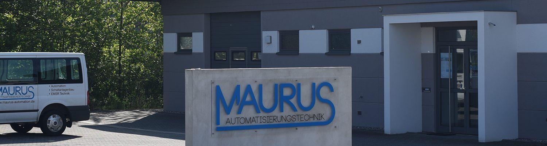 Eingang Gebäude - MAURUS Automatisierungstechnik in Bodenheim